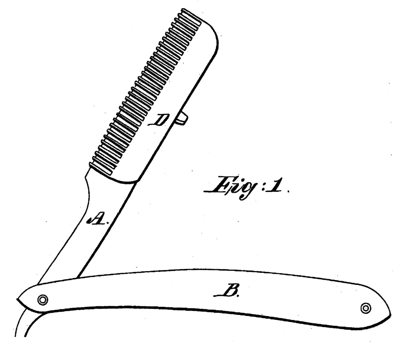 Straight Razor Drawing